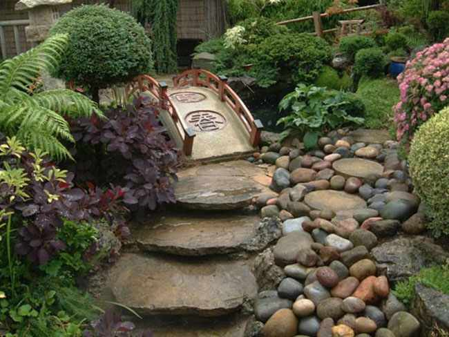 Recomendaciones de senderos para jardines - Jardines pequenos con piedras ...