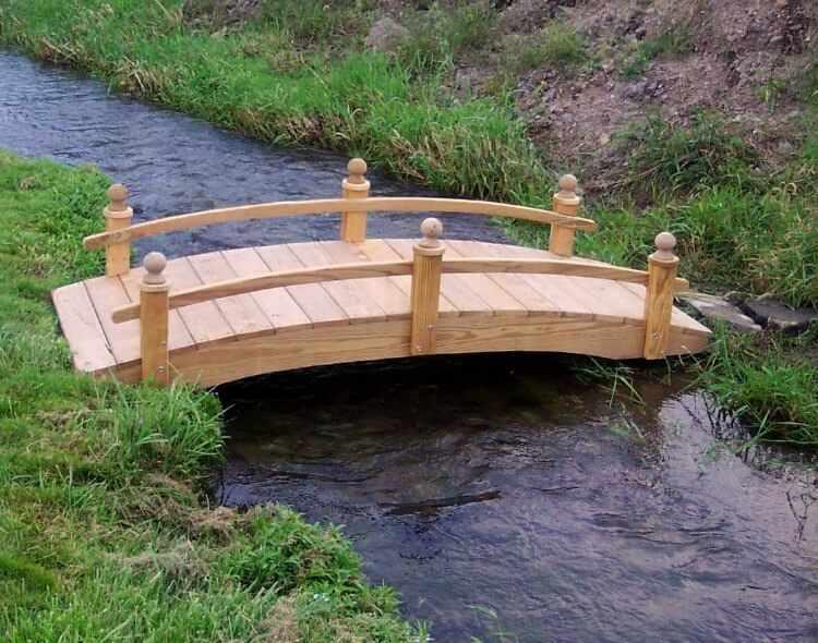 Puente de madera para jardin para estanque modelos tipos y fotos - Cesped japones fotos ...
