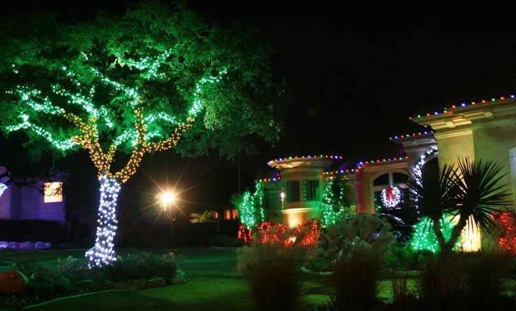 Ideas para decorar el jardin para Navidad