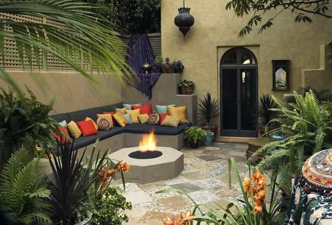 Diseño de un patio interno Chill Out