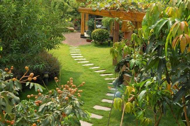 hacer senderos jardin