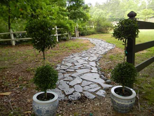 senderos para el jardin