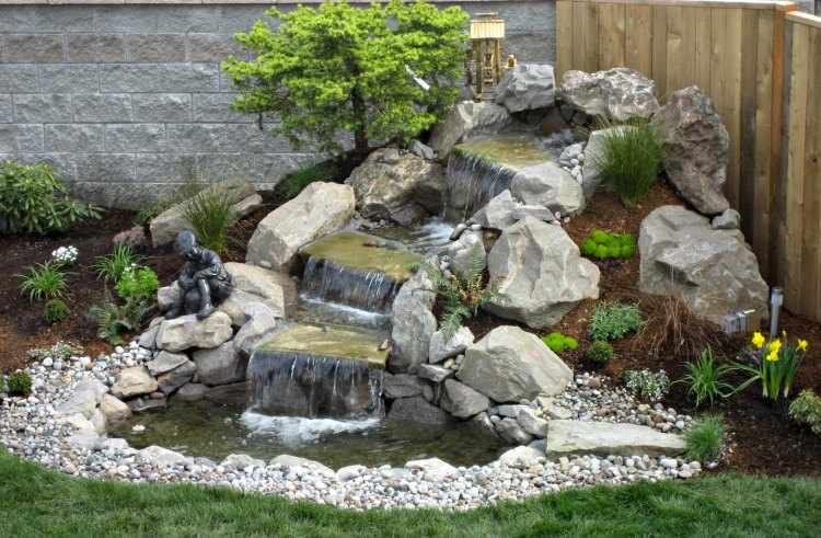Dise o de jardines peque os for Fuentes de jardin modernas