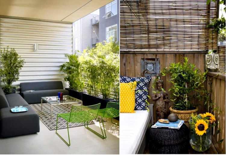 decoración de balcones con plantas
