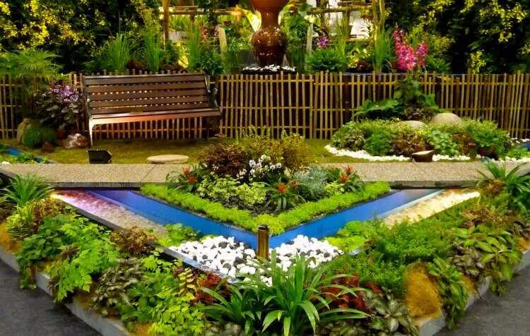 jardines con flores hermosas