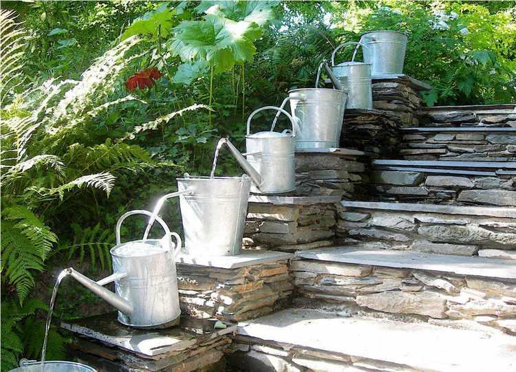 diseños de fuentes de agua para jardin