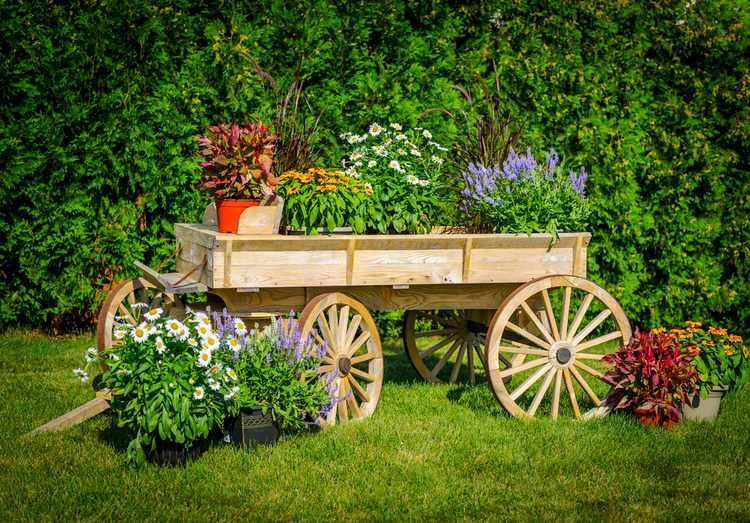 ideas para jardines rusticos