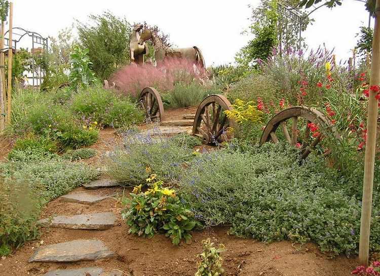 jardines rusticos de campo
