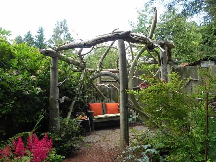 jardines rusticos pequeños