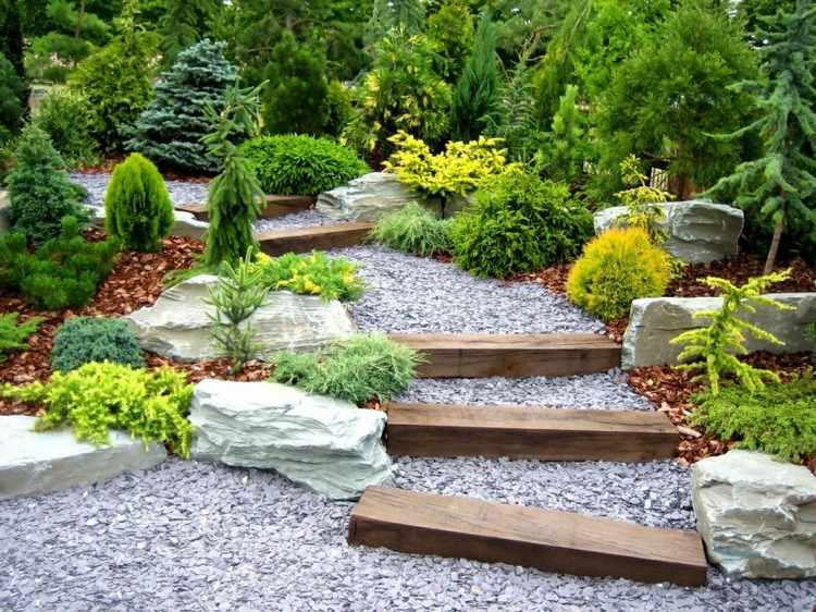 adornos para jardines pequeños
